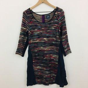 Maeve Anthropologie Tweed Knit Swing Dress